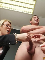 Therapist helps angel acquire over her fear of jocks by making her milk one!