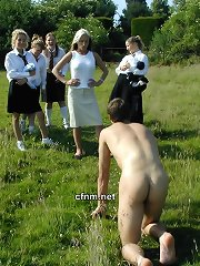 Schoolgirls trick boys into getting naked on a St Dunstans country outing