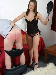 Dominant wife spanking husband