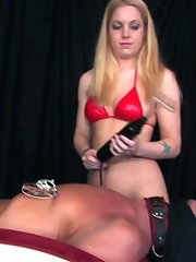 Mistress sits on her slave\'s face