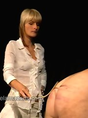 Bloody femdom punishment