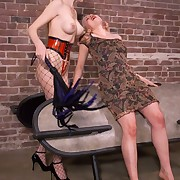 Sadistic whipping and strapon fucking