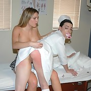Blonde thrashing nurse