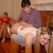 Perverted lesbians playing mom added to daughter added to use spanking