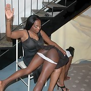 Black mamma punished her daughter hard with OTK spanking