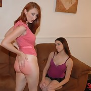 Transmitted to redhead getting otk spanked