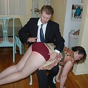 Husband spanks loose wife