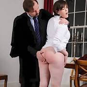 Teen slut was spanked otk
