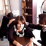 Brutal spanking in russian school