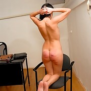 She got severe caning lesson