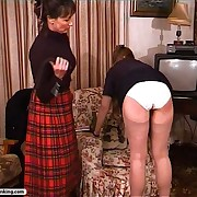 English school brats get their round firm asses caned