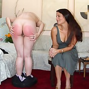 Charming maiden gets her rump punished