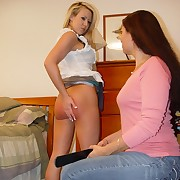 Pretty blonde was spanked