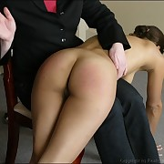 Lovely lady has her prat spanked
