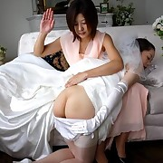 Japan bride gets hard spanked