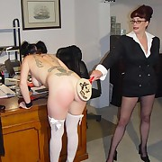 Packed and jam-packed therapist spanks her flavourful patients