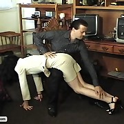 Captive whores are spanked