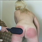 Snotty tarts get their asses spanked until they are glowing red