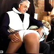 Big Busty Beauty gets her plumper ass spanked red