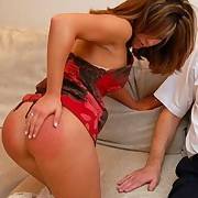 Bad wife spanked otk
