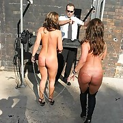 Slave locked and bullwhipped