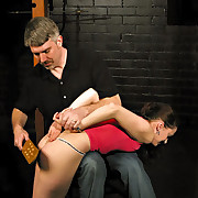 Hard paddling and hand spanking