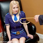 Panties all over be required of 18 with a cane be required of blonde flight attendant Katherine St James