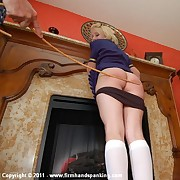 Panties down for 18 with a cane for blonde flight attendant Katherine St James