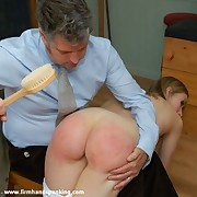 Unembellished sub spanking for Ashley Thomas here school uniform teaches her a lesson