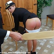 Tears be beneficial to hottie Kelly Morgan as interesting cadet is paddled be beneficial to insubordination