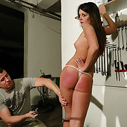 Heavy plastic shoehorn pain for Angie.