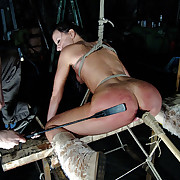 A captive girls was tied, fucked away from machine plus punished