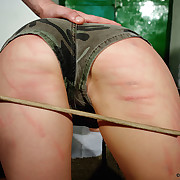 An angry kirmess bitch was caned raw