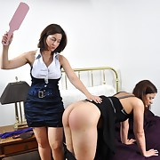 Curious chastising and caning on female tokus