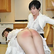 Prurient maiden gets barbarous whips on her butt