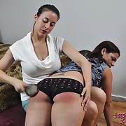 Ravishing gal gets her rear welted