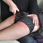 Dissolute femme has brutal spanks on her glutes