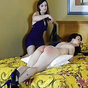 Sweet skirt gets her backside lashed