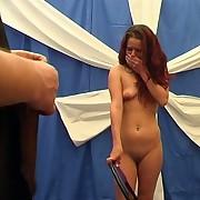 Master spanking a redhead milf