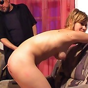 Crazy milf gets her pain in the neck peppery with hot caning.