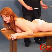 Young ginger babe has her bootie oiled and caned