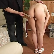 Absurd spanking with house-hold personal property of a small tuchis