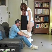 At the end of his patience - an OTK punishment for this youthful lady