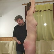Wanton lassie gets hellish spanks on her posterior