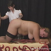 Lustful doll has stern whips on her butt