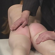 Lustful skirt has severe whips on her butt