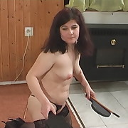 Dissolute lassie gets atrocious whips on her backside