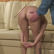 Raunchy miss has brutal spanks on her rear