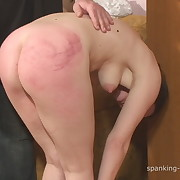 Raunchy fille gets brutish spanks on her rump
