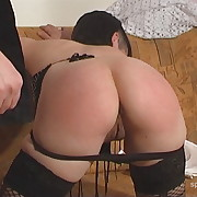 Lustful puss has grim whips on her ass